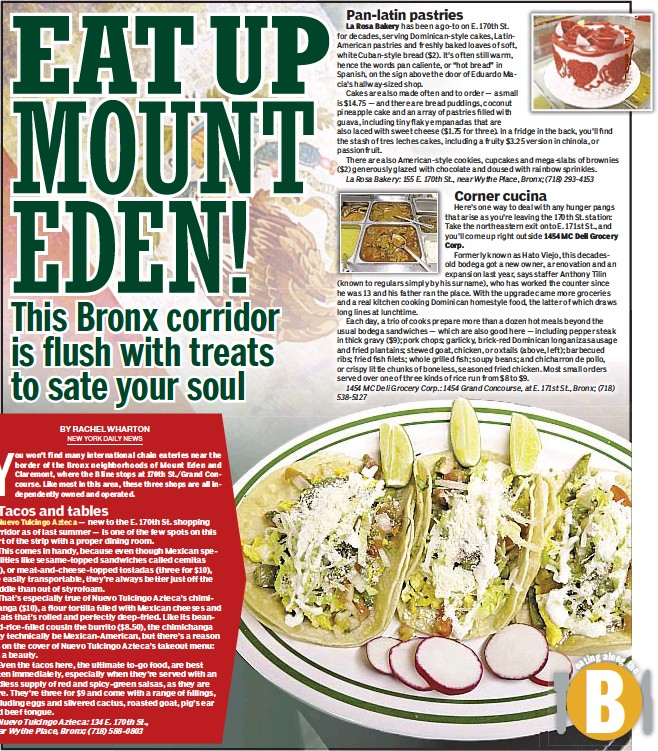 Pressreader New York Daily News 2018 02 25 Eat Up Mount Eden