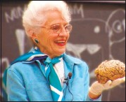 ?? COURTESY PHOTO ?? Professor Dr. Marian Diamond was the first female student to graduate from UC Berkeley's anatomy department.