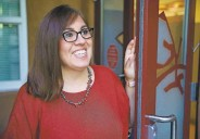 ?? GABRIELA CAMPOS/THE NEW MEXICAN ?? Cheryl Romero is the first-year principal at Tesuque Elementary.