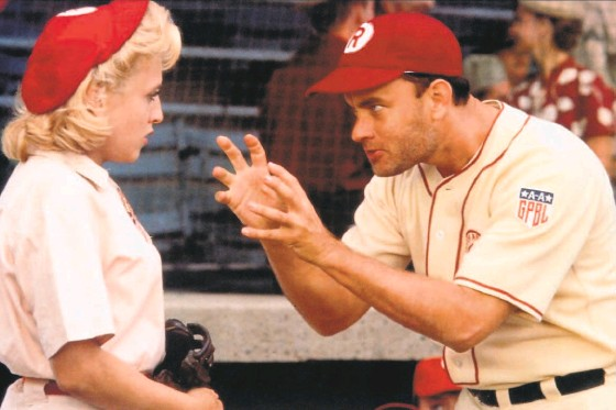 """?? Columbia Pictures 1992 ?? Tom Hanks stars as Jimmy Dugan in """"A League of Their Own"""" from 1992, still one of the best baseball movies ever made."""