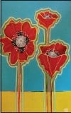 ?? SUBMITTED PHOTO ?? This painting of poppies by Martha Perkins will be a part of the new exhibit at Swarthmore Borough Hall this month.