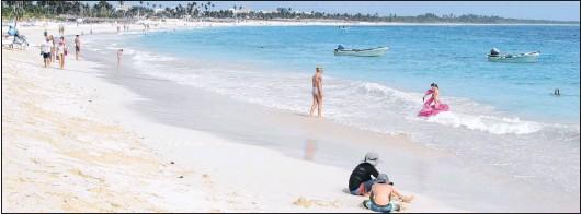 ?? JOHN NOWLAN PHOTO ?? Bavaro in the Dominivan Republic. One of the world's great beaches.