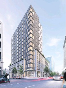 ?? ARTIST'S RENDERINGS (4): COURTESY OF CAMPANELLA & ASSOCIÉS ARCHITECTURE + DESIGN ?? Le Six88 residential project in the heart of Old Montreal, on Notre-Dame St. W. at the corner of St-Henri St.