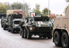 ??  ?? VISADES UPP. Utöver rollspelet visade Försvarsmakten upp en hel del av sina olika fordon.