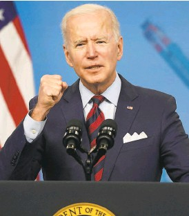 ?? Leigh Vogel / TNS ?? Without making a fuss, President Biden has often gotten his way by using the skills he has acquired over a very long career.