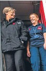 ?? Pictures: Steve MacDougall. ?? Chief Inspector Maggie Pettigrew, left, with Norma Carr at Aberfeldy Community Fire Station and Safer Communities Hub.