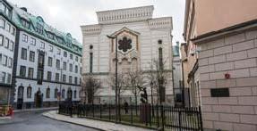 ?? FOTO: MOSTPHOTOS ?? BÄTTRE SÄKERHET. Stockholms synagoga och Judiska församlingens hus ska få bättre skydd mot attentat, enligt staden.