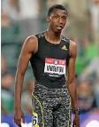 ?? Foto: Keystone ?? Gross, schlaksig, langer Schritt: In vielem gleicht Erriyon Knighton Usain Bolt.