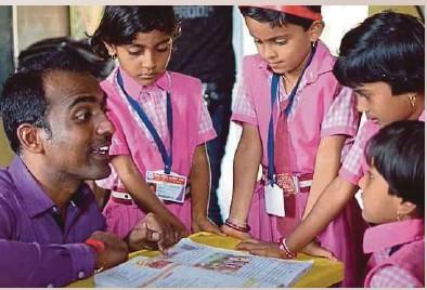 ?? pic courtesy of youtubeGlobalteacherprize ?? Ranjit was lauded for his innovative teaching pedagogy.