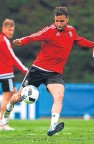 ??  ?? Pledging to be fit to face Slovakia: Hal Robson-Kanu.