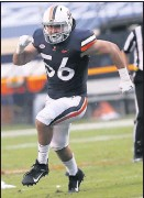 ?? ERIN EDGERTON/THE DAILY PROGRESS ?? Virginia linebacker Matt Gahm will be tasked with replacing injured Charles Snowden for the rest of the season. Gahm said his mentalitywon't change.