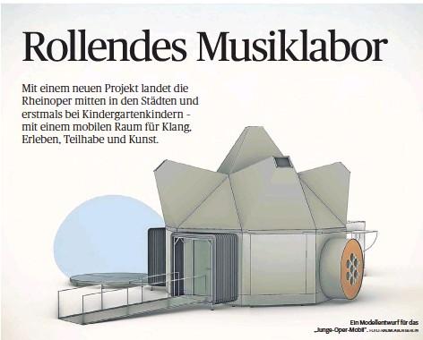 """?? FOTO: RAUMLABOR BERLIN ?? Ein Modellentwurf für das """"Junge-Oper-Mobil""""."""