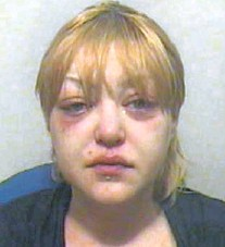 Proctors Facebook Image In April And Right A Police Mugshot Showing Her Decline After Drink Fuelled Parties