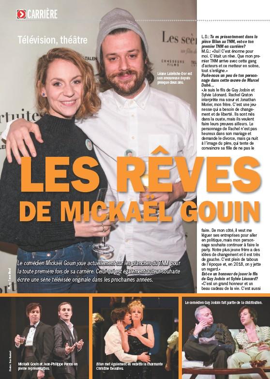 Mickaël Gouin et Jean-Philippe Perras en pleine représentation. Léane  Labrèche-Dor est son amoureuse depuis presque deux ans. Bilan met également  en vedette ... 110be5c8d38a
