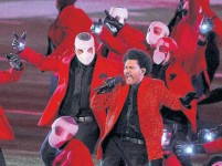 """?? KEVIN C. COX TRIBUNE NEWS SERVICE ?? Showtime will release """"The Show,"""" a 90-minute look at how The Weeknd's spectacular Super Bowl concert came together."""