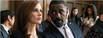 ??  ?? Molly's Game: Idris Elba reacts to Ireland's 5-1 loss to Denmark