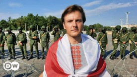 ??  ?? Vitali Alekseenok joined the protests in Minsk last year