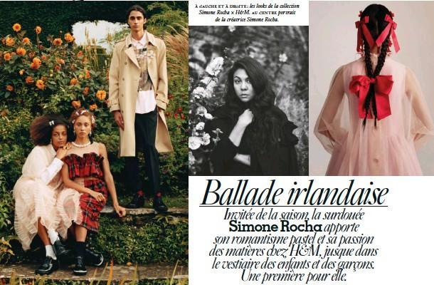 ??  ?? à gauche et à droite: les looks de la collection Simone Rocha × H&M. au centre portrait de la créatrice Simone Rocha.