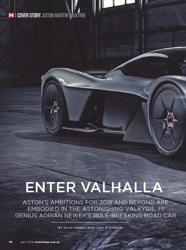 Pressreader Motor Australia 2018 04 05 Aston Martin Valkyrie