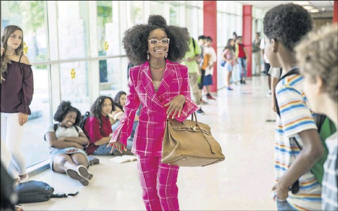 ?? Eli Joshua Adé/universal Studios ?? Black-ish star Marsai Martin plays a brash boss lady with a taste for the finer things in life who finds herself back in her 13-year-old body.