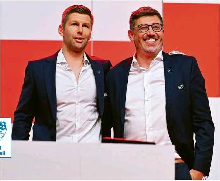 ?? Foto: Imago ?? Weiter zusammen gefordert beim VfB: Thomas Hitzlsperger (li.) mit Präsident Claus Vogt.