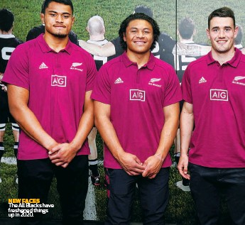 ??  ?? NEW FACES The All Blacks have freshened things up in 2020.