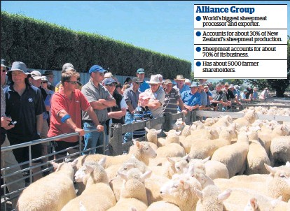 ?? Picture / NZME ?? Alliance is offering an extra 10c a kg of lamb to those farmers who provide all their animals to the co-op.