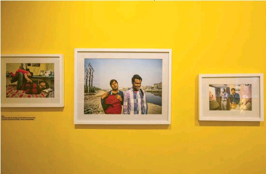 ??  ?? This page, top: An installation view of photographs by Sunil Gupta and Charan Singh, from the DissentandDesire series The intimacy of queerness and friendship: shared stories of lives at the margins of the heteronormative.