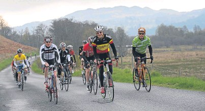 ?? Pictures: rb create ltd. ?? The Etape Caledonia features spectacular Highland Perthshire scenery and this year, former Olympic champion Chris Boardman, right, is also taking part.