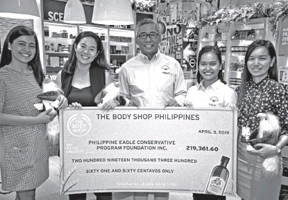 ??  ?? Last 2018, The Body Shop partnered with The Philippine Eagle Foundation to help protect our endangered Philippine Eagle and let them thrive and breed again.