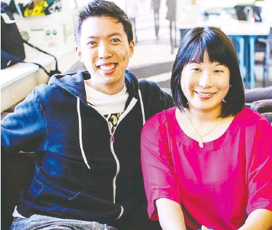 ?? COURTESY ROUTIFIC ?? Suzanne Ma and her husband Marc Kuo are two of the co-founders of the software startup Routific.