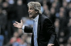 ?? STEVE PARKIN/AGENCE FRANCE- PRESSE ?? Manchester City manager Manuel Pellegrini could lose his job after a season in which the team will not play for any titles.