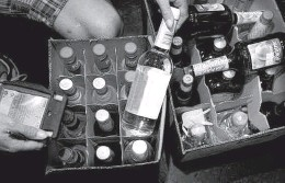 ?? Raleigh News & Observer file photo ?? Charlotte area restaurants and bars are reporting outages of liquor bottles like Patron, Tito's, Malibu and more amid a global liquor shortage exacerbated by the coronavirus pandemic.