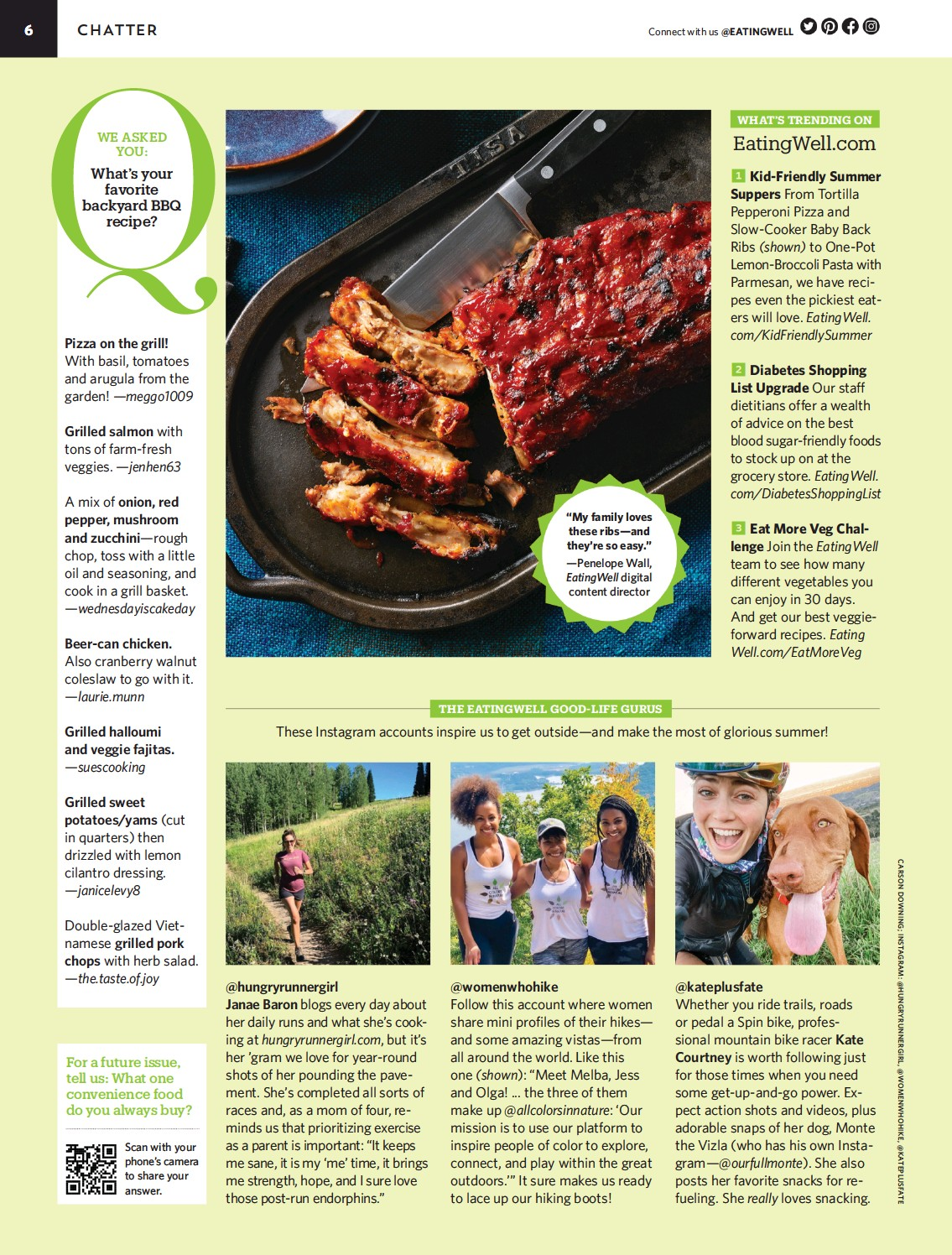 """??  ?? """"My family loves these ribs—and they're so easy."""" —Penelope Wall, Eatingwell digital content director"""