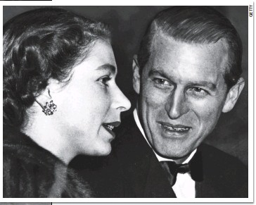 ??  ?? I only have eyes for you: Philip looks adoringly at the queen at a circus in London in December 1952. Her coronation was the following June