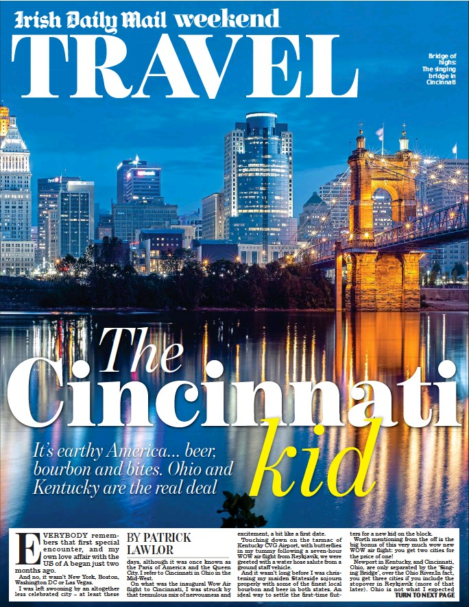 ??  ?? Bridge of highs: The singing bridge in Cincinnati