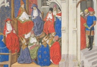??  ?? RIGHT The Council of Clermont in 1095