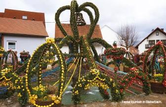 ??  ?? Easter fountain in Bieberbach.