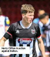 ??  ?? Harry Clifton in action against Bolton.