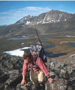 ??  ?? Trekking over passes, deep in Alaska's Brooks Range.