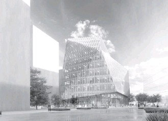 """?? VIRGINIA TECH ?? A rendering of the Innovation Campus. Lance Collins, the campus's executive director, said Tuesday that """"it will unite the three pillars of technology — the private and public sectors and academia."""""""