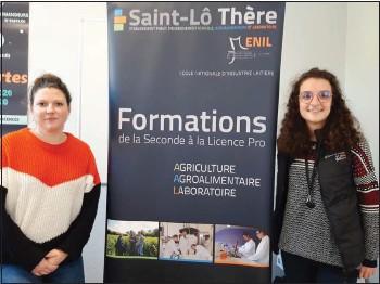 ??  ?? Mathilde Lemoine, chargée de recrutement et Gwénaëlle Rouzioux, chargée de communication, sont toujours à la pointe pour de nouvelles idées