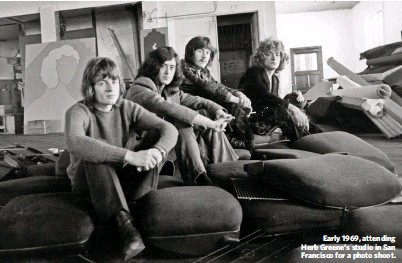 ??  ?? Early 1969, attending Herb Greene's studio in San Francisco for a photo shoot.