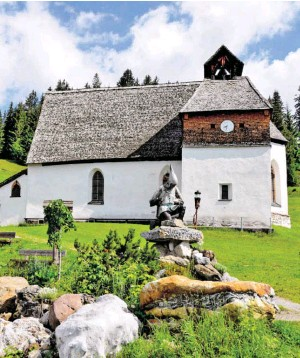 ?? ?? Die Kapelle St. Agatha im Montafon stammt aus Zeiten des Silberbergbaus.