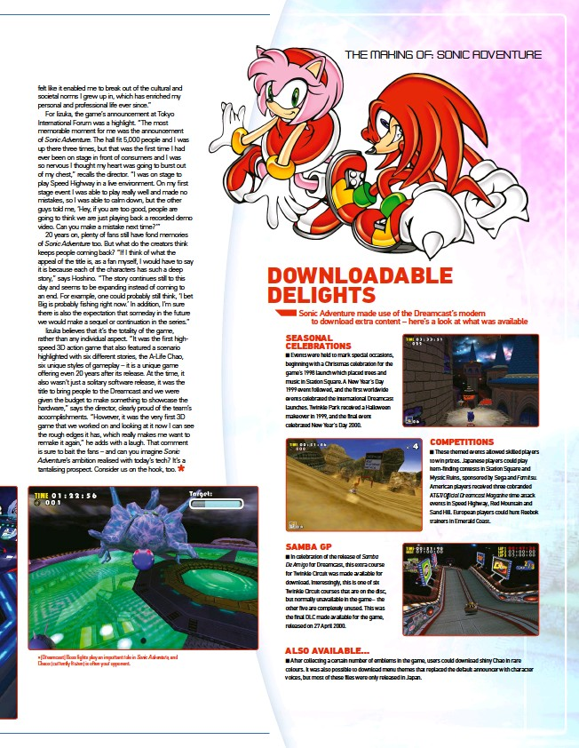 ??  ?? » [Dreamcast] Boss fights play an important role in Sonic Adventure, and Chaos (currently frozen) is often your opponent.