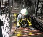 ??  ?? Im Keller unter der Atemschutzwerkstatt befindet sich die Kriechstrecke für Belastungsübungen nach FWDV 7.
