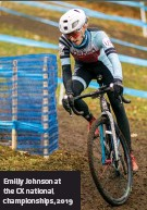 ??  ?? Emilly Johnson at the CX national championsh­ips, 2019