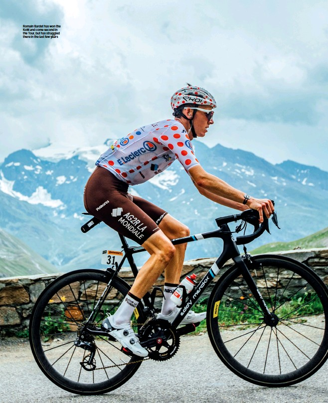 ??  ?? Romain Bardet has won the KoM and come second in the Tour, but has struggled there in the last few years