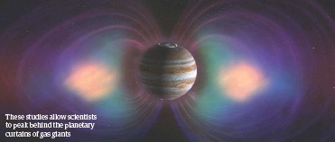 ??  ?? These studies allow scientists to peak behind the planetary curtains of gas giants
