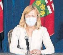 ?? TIJANA MARTIN THE CANADIAN PRESS ?? Ontario Health Minister Christine Elliott outlined details of how the province's COVID vaccination certificate system, which starts Sept. 22, will work.